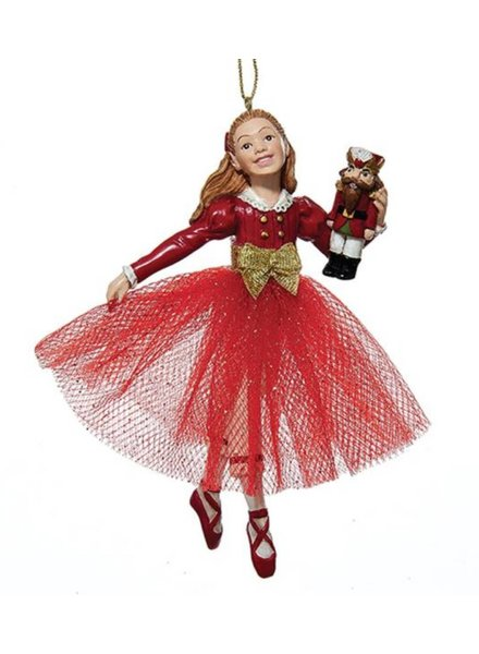 Clara in a Red Dress Ornament