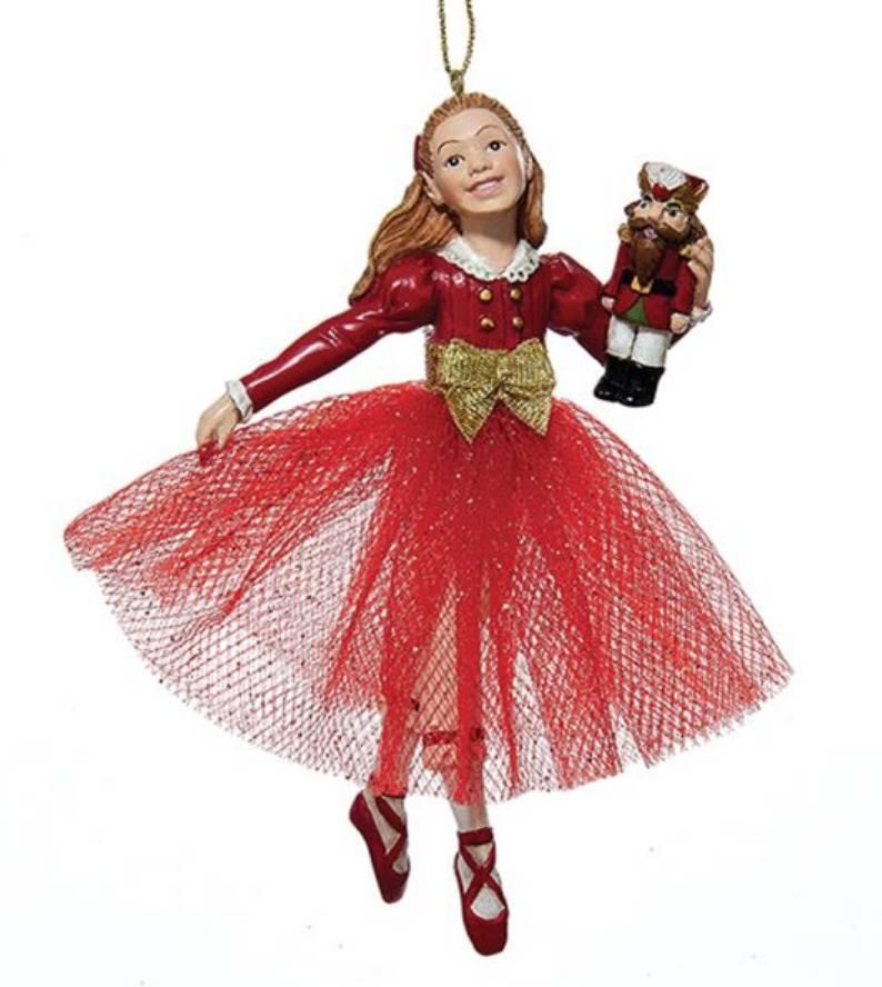 Clara in a Red Dress Ornament