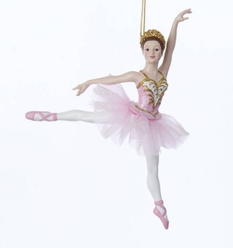 Pink Dancing Ballerina Ornament