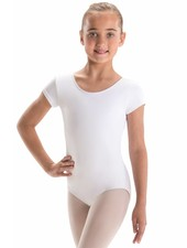 Motionwear Bow Back Cap Sleeve Leotard