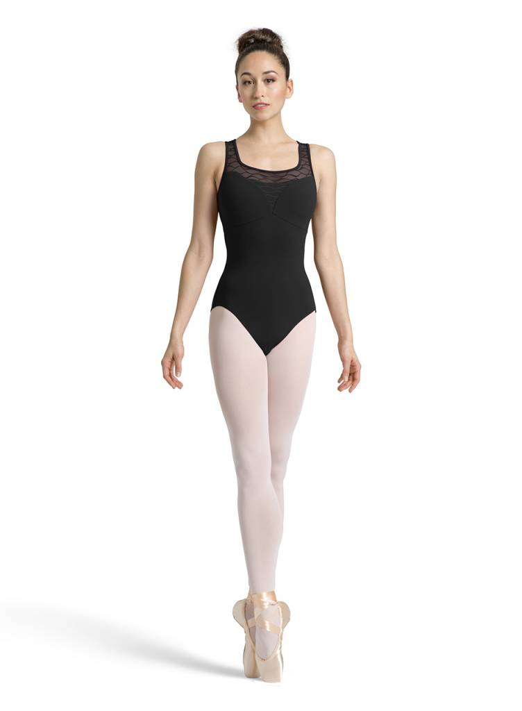 Bloch Wave Mesh Tank Leotard