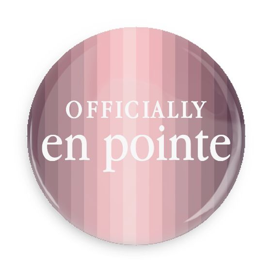 B Plus Printworks Officially En Pointe Pocket Mirror (Ombre Stripes)