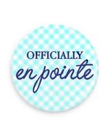 B Plus Printworks Officially En Pointe Pocket Mirror (Light Blue Plaid)