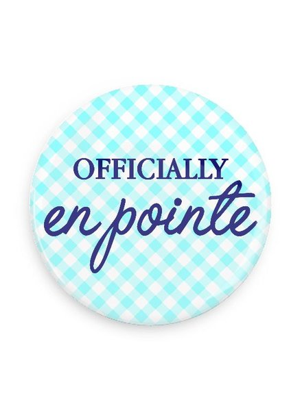 B Plus Printworks Officially En Pointe Pocket Mirror (Light Blue Plaid)