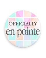 B Plus Printworks Officially En Pointe Pocket Mirror (Pink, Teal, Orange Square)
