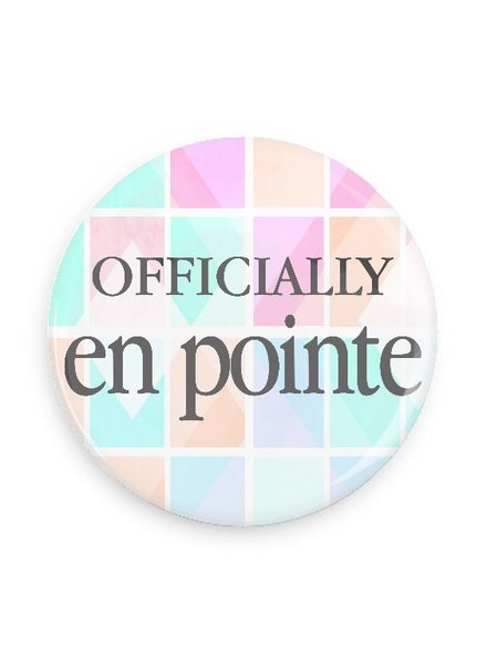 B Plus Printworks Officially En Pointe Pocket Mirror (Pink, Teal, Orange Square)