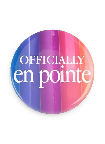 B Plus Printworks Officially En Pointe Pocket Mirror (Blue, Purple, Pink, Orange Stripe)