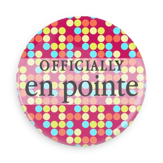 B Plus Printworks Officially En Pointe Pocket Mirror (Polka Dots)