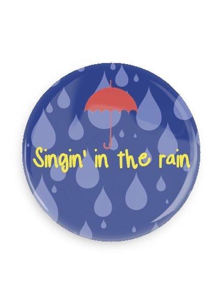 B Plus Printworks Singing in the Rain Pocket Mirror