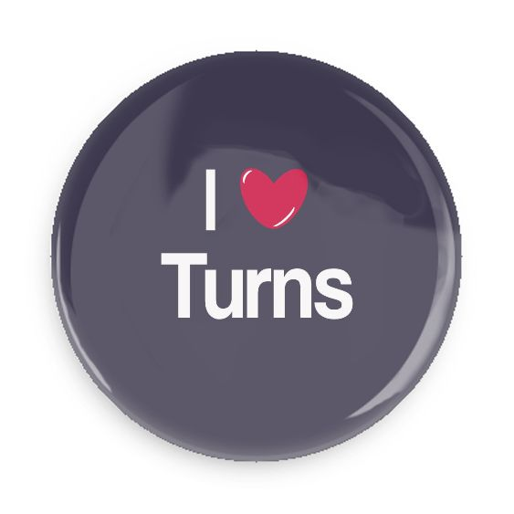 B Plus Printworks I Heart Turns Pocket Mirror