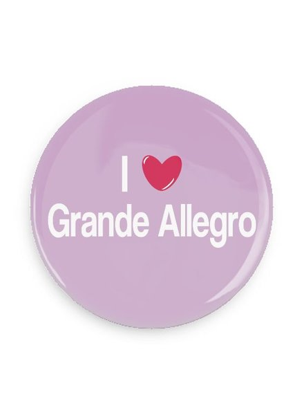 B Plus Printworks I Heart Grande Allegro Pocket Mirror