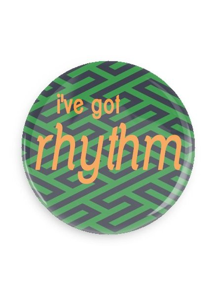 B Plus Printworks I've Got Rhythm Pocket Mirror