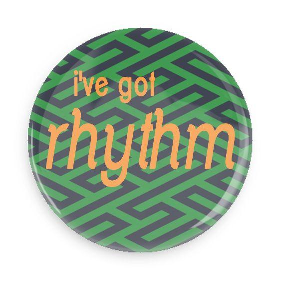 B Plus Printworks I've Got Rhythm Pocket Mirror