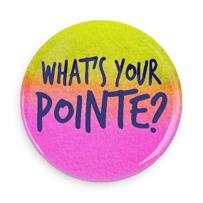 B Plus Printworks What's Your Pointe? Pocket Mirror