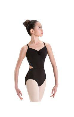 Motionwear Side Cutout Mesh Back Camisole Leotard