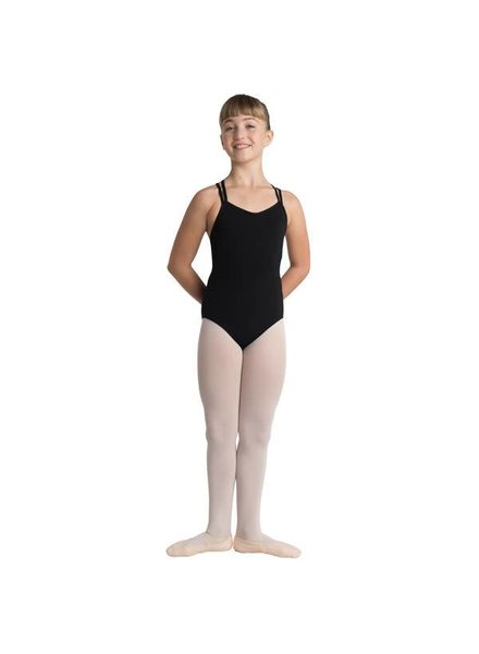 V-Front, Cinched Back Strap Leotard