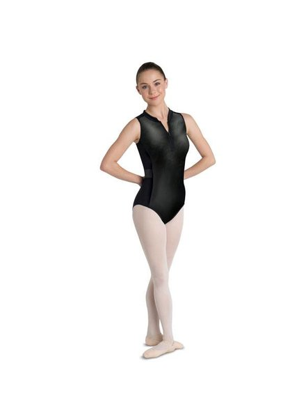 Zip-Up Scuba Leotard with Criss Cross