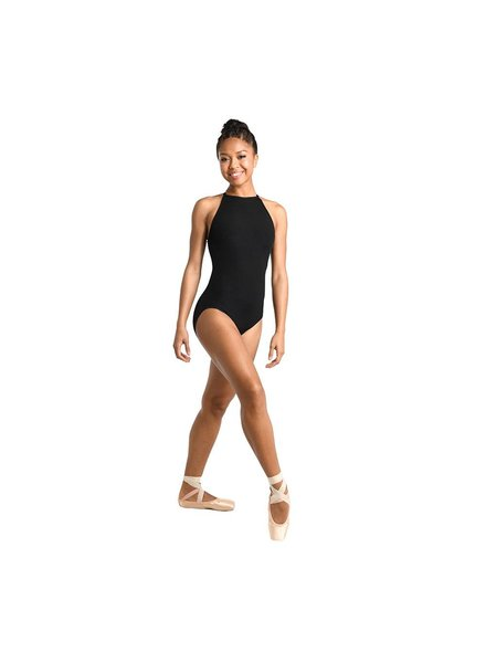 Danshūz Adult Ribbed Cutaway Tank Leotard