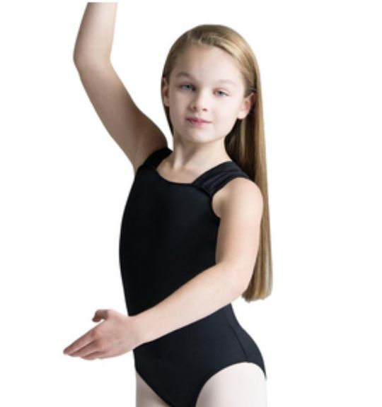 Motionwear Wide Strap Drape Back Leotard