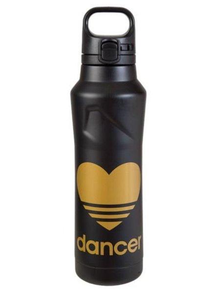 Sugar and Bruno Gold Heart Dancer Water Bottle