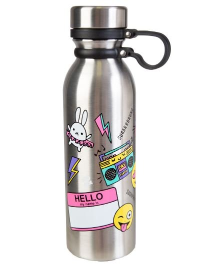 Sugar and Bruno Emoji Water Bottle