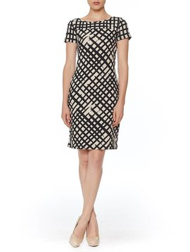 PAPILLON BLANC SHORT SLEEVE  SHIFT DRESS