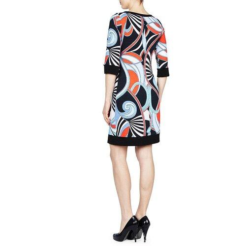 PAPILLON BLANC SHIFT DRESS 3/4 SLV
