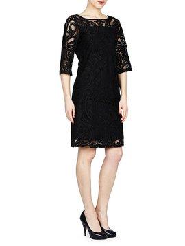 PAPILLON BLANC 3/4 SLV SHIFT DRESS