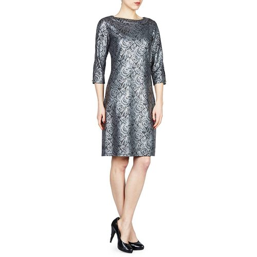 PAPILLON BLANC THREE QUARTER SLEEVE DRESS