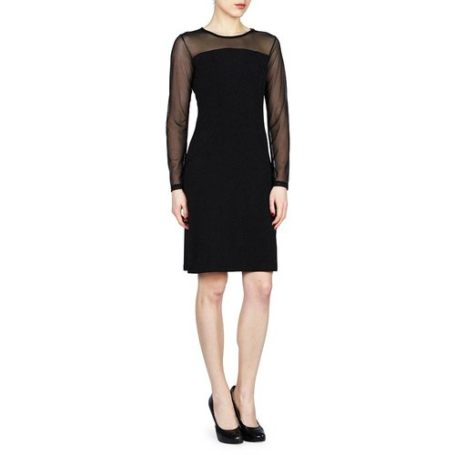 PAPILLON BLANC DRESS WITH MESH SLEEVES