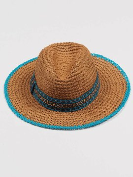 ECHO CROCHET STRAW HAT