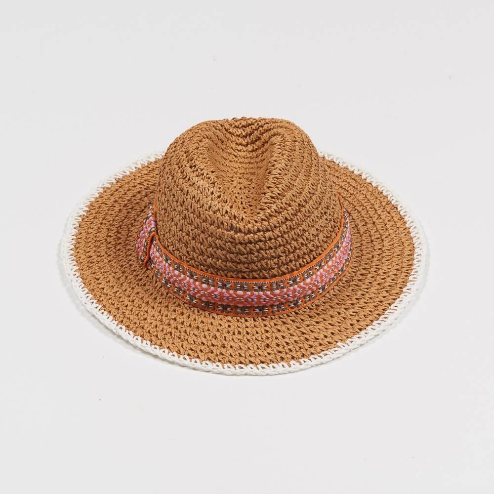 ECHO CROCHET STRAW HAT