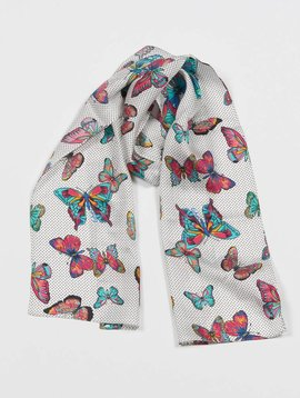 ECHO ECHO BUTTERFLY FUN TIME OBLONG SCARF