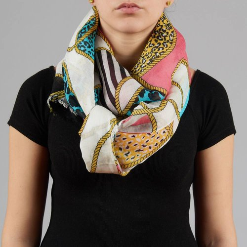 LEOPARD ROPES SCARF