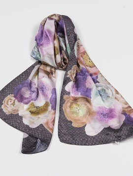 ECHO ECHO PARIS FLORAL OBLONG SCARF