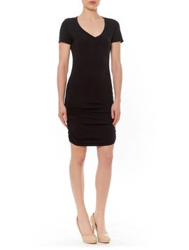 MICHAEL STARS MICHAEL STARS RUCHED SIDE MINI DRESS