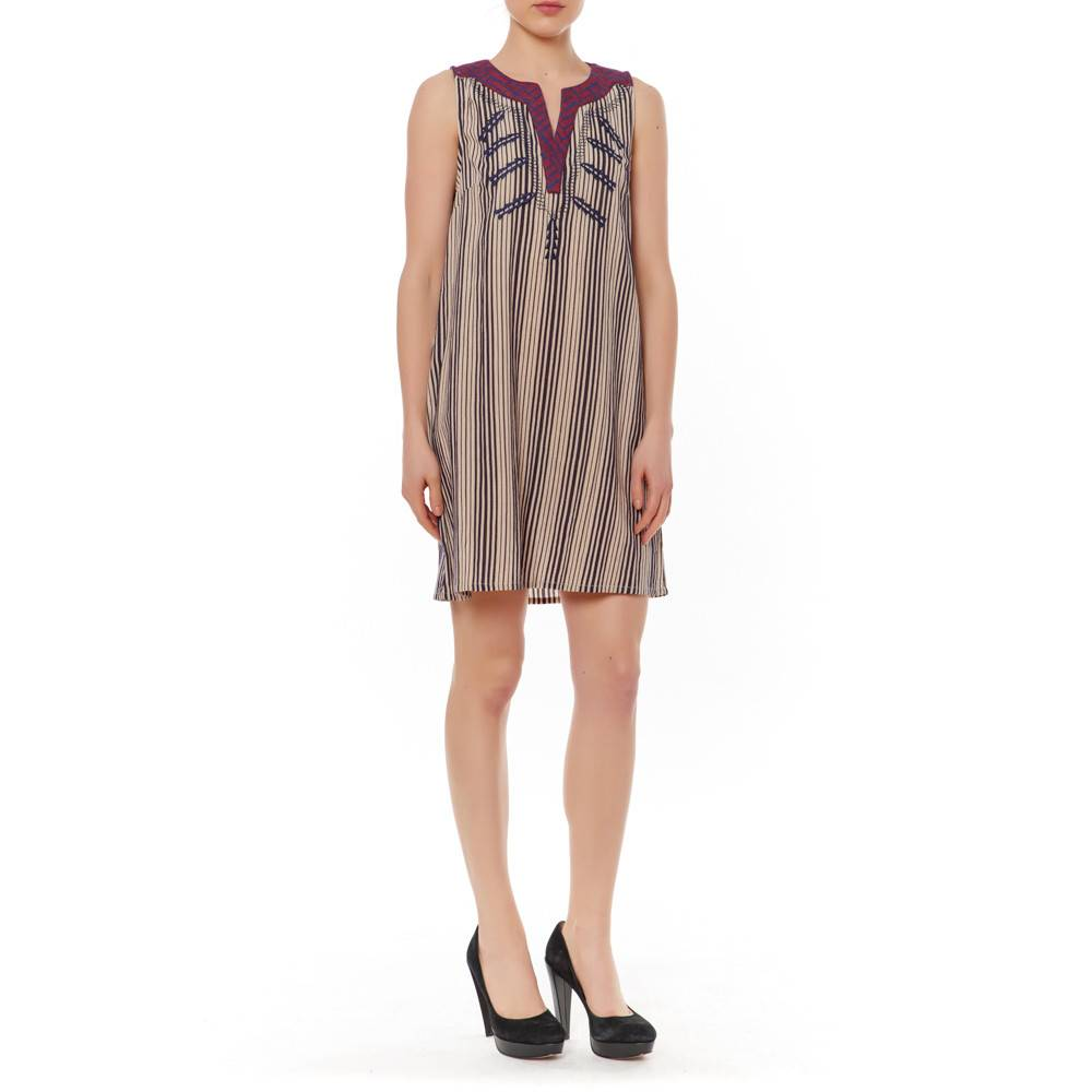 THML SLVLESS STRIPE DRESS