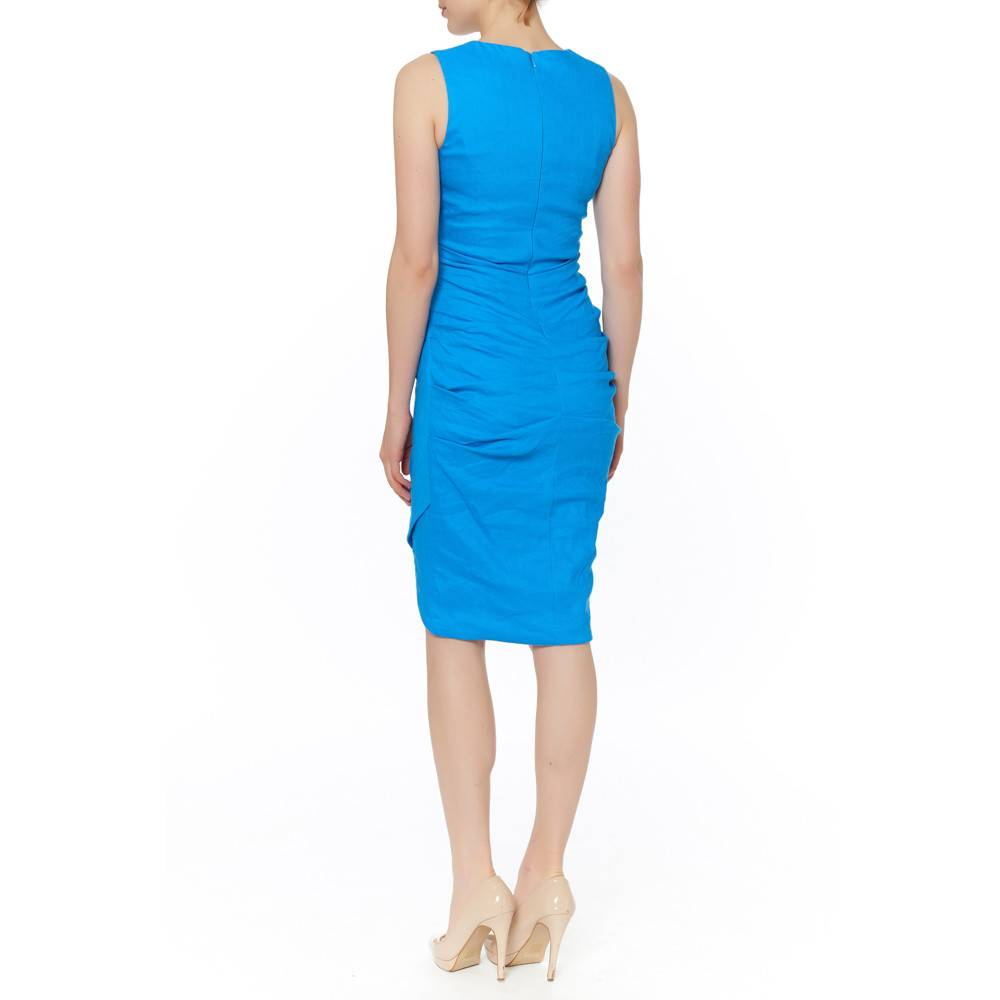 NICOLE MILLER NICOLE MILLER V NK SIDE RCHED DRESS