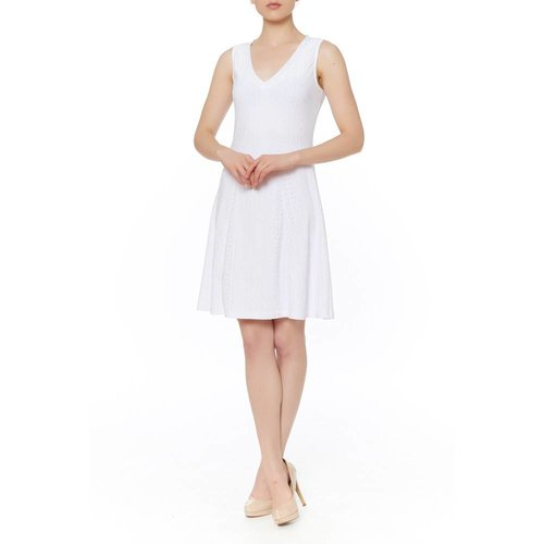 PAPILLON BLANC SLVLESS V NECKK DRESS