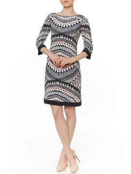 PAPILLON BLANC PAPILLON BLANC 3/4 SLV PUCCI SHIFT DRESS