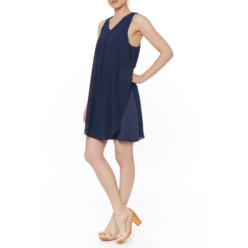 SLVLESS CHIFFON DRESS