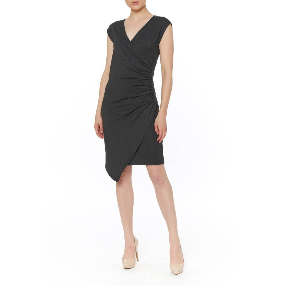PAPILLON BLANC PAPILLON BLANC FAUX WRAP DRESS
