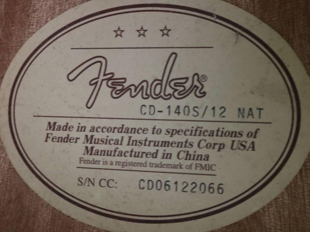 Fender USED Fender CD140 12 String