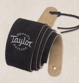 Taylor Taylor Black Suede Logo Strap