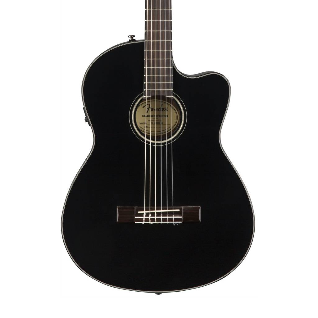 Fender Cn 140sce Acoustic Electric Guitar Black