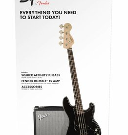 Squier NEW Squier Affinity Series Precision Bass PJ Pack - Black