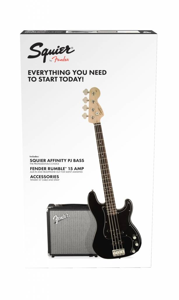Squier Squier Affinity Series Precision Bass PJ Pack - Black