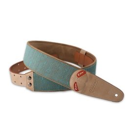 Right On Straps NEW Right On! Boxeo Teal Guitar Strap