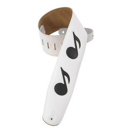 Levy's Leathers Levy's  M4N-WHT Genuine Leather Bass Guitar Strap