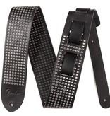 """Fender 2.5"""" Black Leather Small Rivet Strap"""